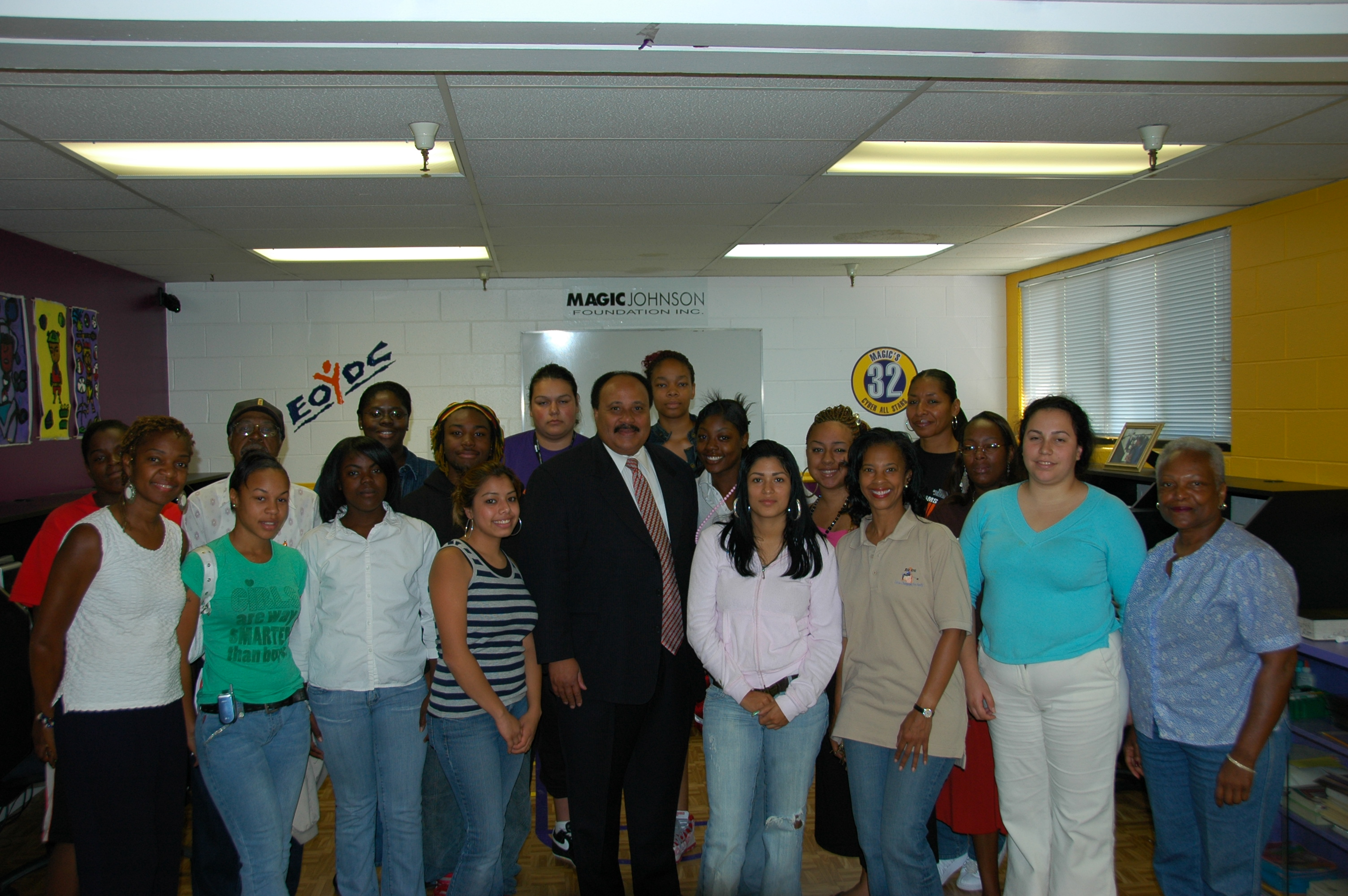 Martin Luther King III and the EOYDC family.