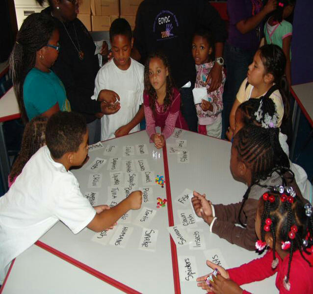 Students at EOYDC'S Homework Center
