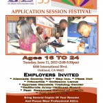 application session flyer