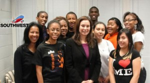 US Treasurer Rosie Rios and EOYDC students